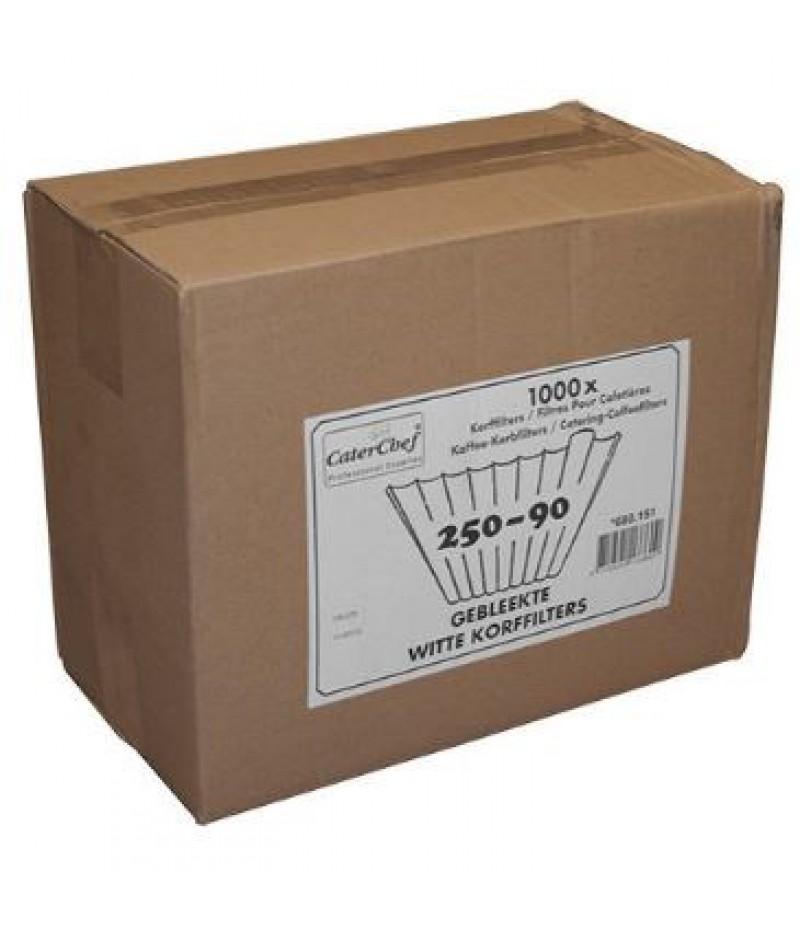 Korffilter (Gebleekt) 250/90 4x250 Filters CaterChef