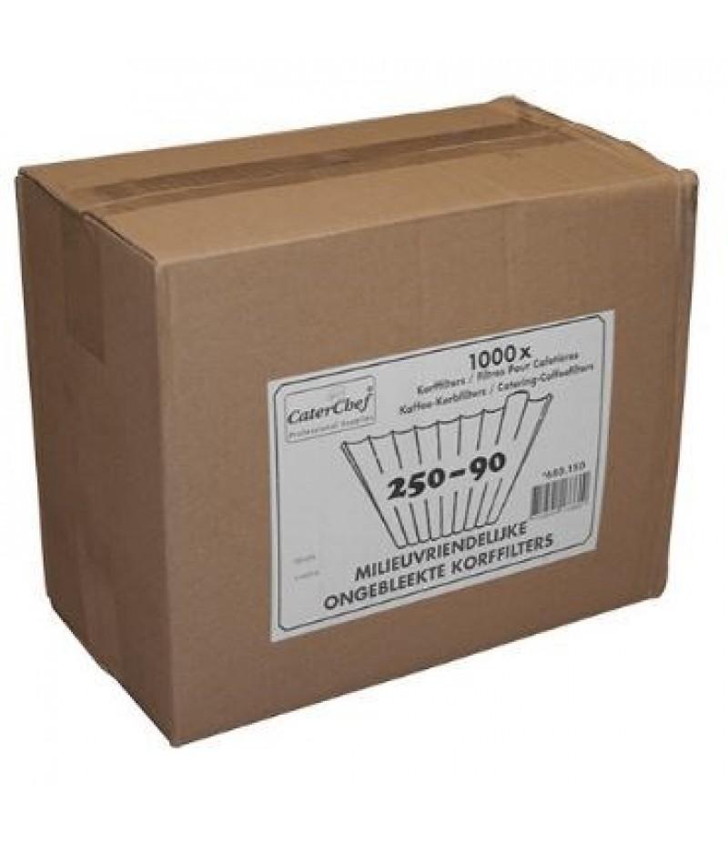 Korffilter (Ongebleekt) 250/90 4x250 Filters CaterChef