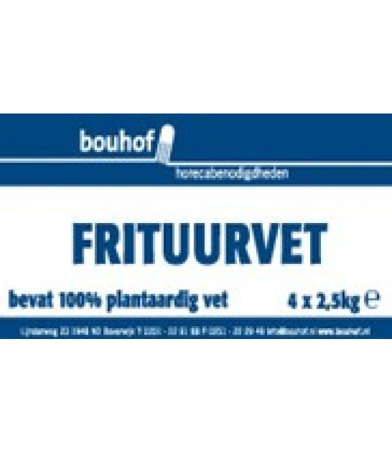 Bouhof Frituurvet Vast 4x2,5 Kilo