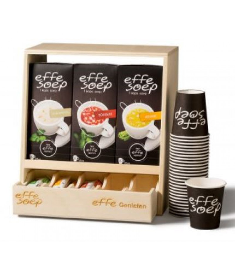 Effe Soep Houten Display Gevuld Compleet Pakket