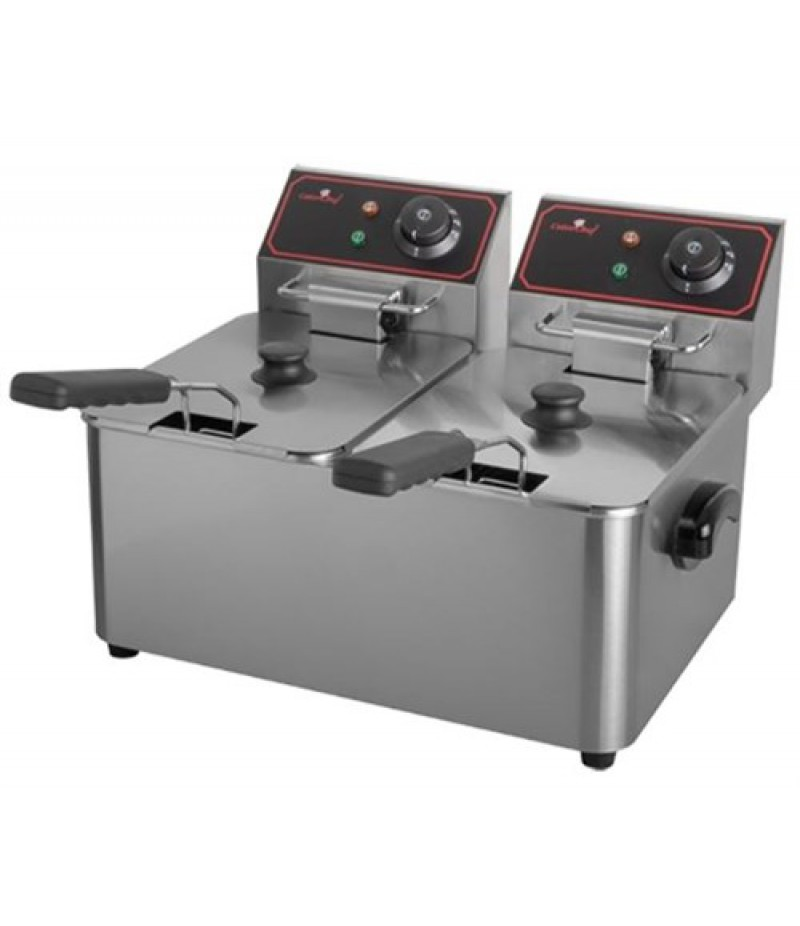 Friteuse 5+5Liter Elektrisch 2000W CaterChef