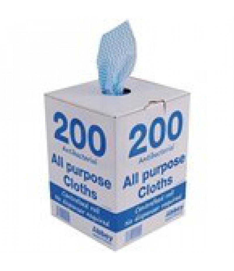 Antibacteriële Doekjes Blauw Multifunctionele 200 St Jantex